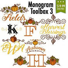 Monogram Toolbox 3 - Hang to Dry Applique