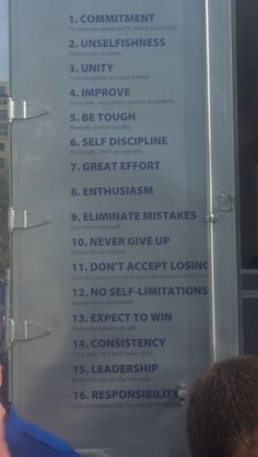 "K-State Wildcats Coach Synder's 16 ""Commandments"" as seen from the doors of the equipment semi."
