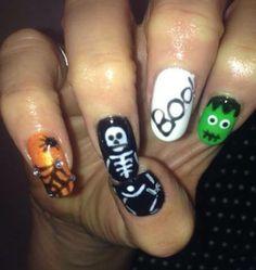 Halloween Gelish Nails