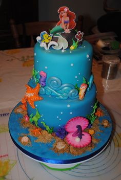 Little Mermaid Cake @Emilie Miller Altenberger