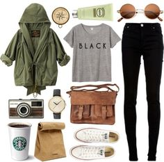 4. Don't #Forget the Coffee! - 29 Chic Fall #Outfits for Teens ... → #Fashion #Gorgeous