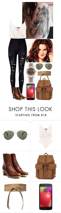 """""""I present you one of my 2 new tattoos. ♥"""" by annacastrolima ❤ liked on Polyvore featuring Givenchy, Boohoo, Herschel Supply Co., Brave, Motorola, Rolex, comfy, DrewBarrymore, tattoo and horsetattoo"""
