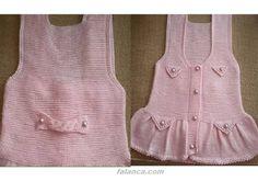 Knitting For Kids, Crochet For Kids, Baby Knitting, Baby Vest, Girls Sweaters, Girl Outfits, Crochet Patterns, Rompers, Summer Dresses