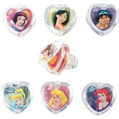 Disney Princess Lip Gloss Rings