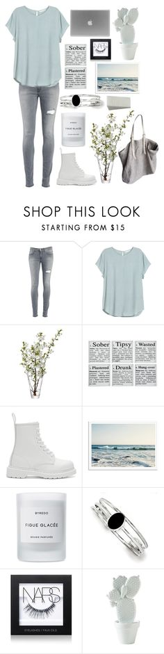 """""""Untitled #51"""" by adaarutunova on Polyvore featuring Dondup, H&M, LSA International, Dr. Martens, Byredo, Kevin Jewelers, NARS Cosmetics, Jérôme Dreyfuss, women's clothing and women's fashion"""