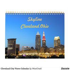 Cleveland Ohio City Skyline Calendar