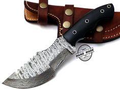 Regular Damascus Tracker Knife Custom Handmade Damascus Steel Hunting Knife Best Damascus Tracker Knife With Mictra Handle Leather Sheaths 1158