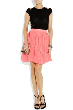 Versus Crinkled pleated chiffon mini skirt - 70% Off Now at THE OUTNET