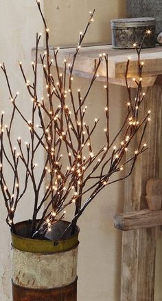 Our lighted branches are a great way to add ambiance to your home or entry this fall!