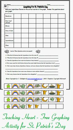 This graphing printable is from our St. Patty Day Packet -  Pinned by @PediaStaff – Please Visit http://ht.ly/63sNt for all our pediatric therapy pins
