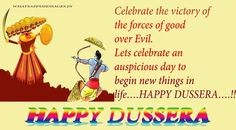 Happy Dusshera SMS in Hindi/Wishes and messages in English