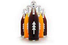Продолжаем говорить о ёлках: японский бренд пива «Одна сосна» напоминает о погибшем лесе вследствие цунами 2011. http://tutdesign.ru/cats/graph/2148-elochka-ne-gori.html #package, #Christmastime