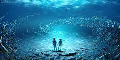Art by Wenqing Yan Yuumei Underwater