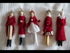 How to make beautiful clothespin doll ornaments. Comment faire de jolies poupée… How to make beautiful clothespin doll ornaments. How to make pretty Christmas dolls in clothespin. Inspiration comes from: The inspiration comes from: ht … Clothes Pin Ornaments, Diy Christmas Ornaments, Christmas Projects, Holiday Crafts, Christmas Decorations, Handmade Decorations, Christmas Ideas, Wie Macht Man, Navidad Diy