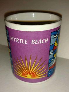 Myrtle Beach Collectible Coffee Tea Mug Sailboat Sunrise