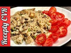 Recepty CVR - Kuskus s tofu a šampióňónami / Couscous with Tofu and Mushrooms Tofu, Couscous, Grains, Stuffed Mushrooms, Rice, Youtube, Stuff Mushrooms, Youtubers, Jim Rice