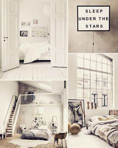 Loft Interior: five things you should know before converting it Minimalist Room, Minimalist Home Decor, Minimalist Interior, Loft Interiors, Sleeping Under The Stars, Entryway Decor, New Homes, Room Decor, Interior Design