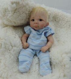 """LEONARDO"" mini 7""polymer clay baby art doll sculpt OOAK by URSULA"