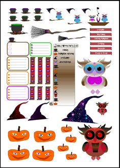 Halloween October Printable PDF by OccasionalObsessions                                                                                                                                                      More