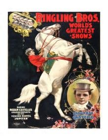 Only posters of Ringling Bros. Greatest Show on Earth remain.
