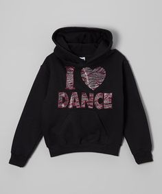 This Activewear Apparel Black & Pink 'I Love Dance' Hoodie - Toddler & Girls by Activewear Apparel is perfect! #zulilyfinds