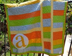 Image result for monogramming wedding quilts