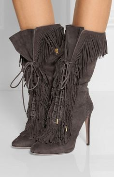 Carly Fringed Suede Boots