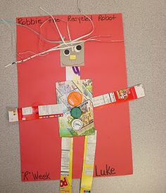 R is for recycled robot! Website full of alphabet crafts.