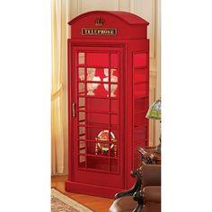 Design Toscano British Telephone Booth Display Cabinet | from hayneedle.com