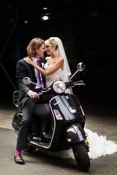 Oggi sposi. #Vespa #wedding