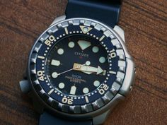 "Citizen Professional Diver's 200m ""Ana-Digi"" Titanium Quartz Diver Watch JP3020"