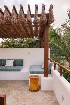 Chiringuito Tulum Boutique Hotel in 2019 Pergola With Roof, Pergola Shade, Patio Roof, Pergola Kits, Ibiza, Outdoor Spaces, Outdoor Living, Belle Villa, Beach Design