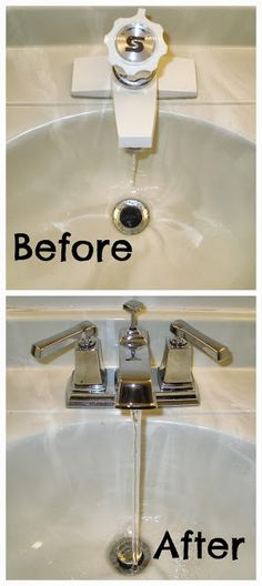 ah, a new faucet makes all the difference!  here's a quick overview of how to change out your old faucet for a new one
