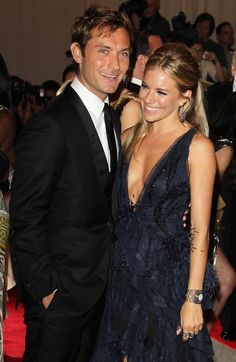 Sienna Miller - Sienna Miller and Jude Law at The Costume Institute Gala