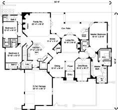 Style House Plans - 4804 Square Foot Home , 2 Story, 4 Bedroom and 4 Bath, 3 Garage Stalls by Monster House Plans - Plan 28-163