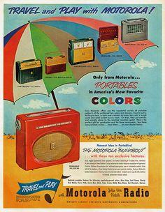 dtxmcclain: Motorola Portable Radio, 1954