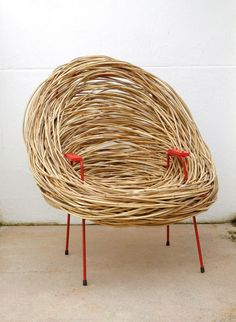 The Design Walker — The Nest Chair by Porky Hefer. Bamboo Furniture, Funky Furniture, Unique Furniture, Furniture Design, Nest Furniture, Bamboo Chairs, Ideas Cabaña, Poltrona Design, Nest Chair