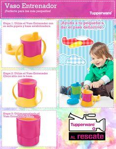 Con el vaso entrenador Tupperware, tus niños dan el paso definitivo y crecen tranquilamente. ¡Tupperware siempre al rescate!
