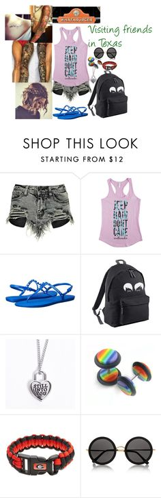"""""""Visiting Friends In Texas"""" by the-real-river-song ❤ liked on Polyvore featuring Boohoo, Havaianas, The Row and Corpus"""
