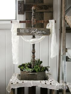 Rustic Easter Cross From Reclaimed Objects
