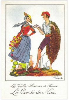 Costume Français, French Costume, Illustrations, Conte, Vintage Love, Vintage Postcards, Folklore, Painting & Drawing, Traditional