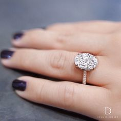ef00468ba CHELSEA is a handcrafted Jean Dousset Diamonds solitaire engagement ring set  in Platinum with three rows