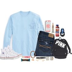 A fashion look from November 2015 featuring Vineyard Vines t-shirts, Abercrombie & Fitch jeans and Converse sneakers. Browse and shop related looks.