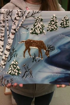 I did this winter scene in a glass fusion class. So interesting!.