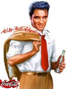Coca Cola and Elvis ❤ -  Art by Scott Ashgate