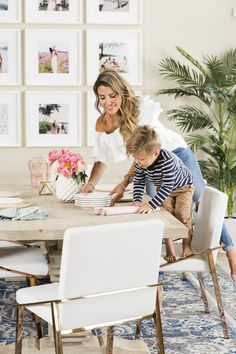 Setting the dining room together with the little