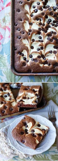 Cream Cheese Chocolate Marble Squares