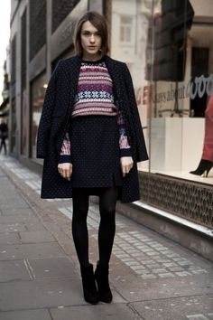 fair isle sweater and suit