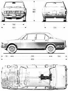 Alfa Romeo Alfetta blueprint