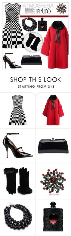 """""""ATMOSFERA RETRO!!!"""" by kskafida ❤ liked on Polyvore featuring Ted Baker, Chicwish, RED Valentino, MKF Collection, Cejon, Bling Jewelry and Yves Saint Laurent"""